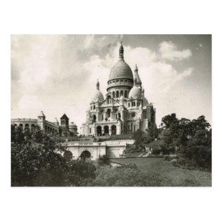 Vintage París, Montmatre, Sacre Coeur Tarjeta Postal