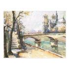 Vintage Paris, Notre Dame, La Seine Postcard