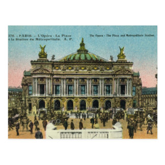 Vintage Paris,   Opera Postcard