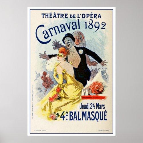Vintage Paris Opera Theatre Carnival 1892 posters