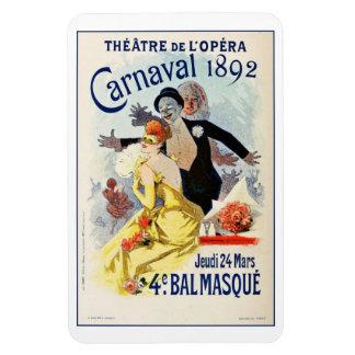 Vintage Paris Opera Theatre Carnival 1892 Rectangular Photo Magnet