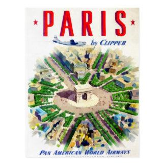 Vintage Paris Pan American Adv Postcards