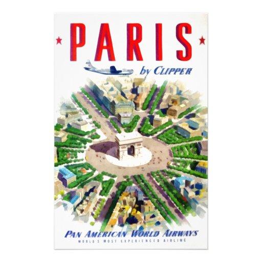 Vintage Paris Pan American Adv Stationery