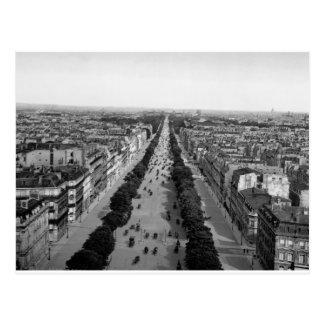 Vintage Paris panorama c1905 Postcard