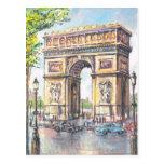 Vintage París, París Arc de Triumphe, Postales