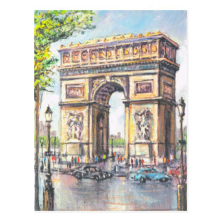 Vintage Paris, Paris Arc de Triumphe, Postcard