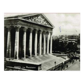 Vintage Paris, Paris, La Madeleine Postcard