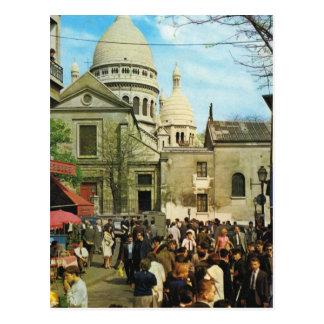 Vintage París, París Montmatre, Place de Theatre Tarjeta Postal