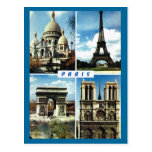 Vintage París, París Multiview Tarjeta Postal