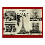 Vintage París, París, multiview temprano Tarjeta Postal