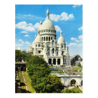Vintage Paris, Paris Sacre Coeur, Montmatre Postcard