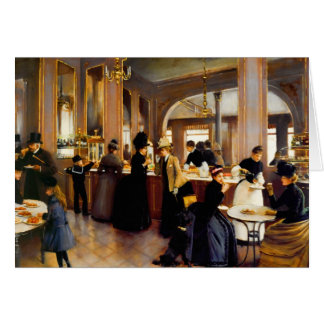 Vintage Paris Pastry Shoppe Blank Stationery Note Card