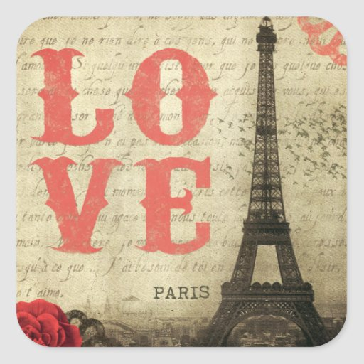 Vintage París Colcomanias Cuadradases