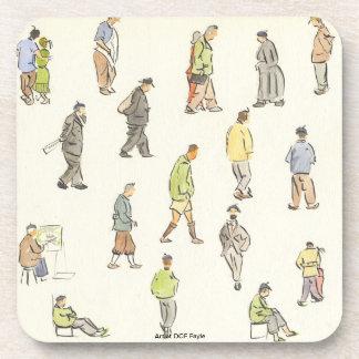 Vintage Paris People Coaster