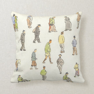 Vintage Paris People Pillow