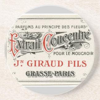 Vintage Paris Perfume Label Drink Coaster