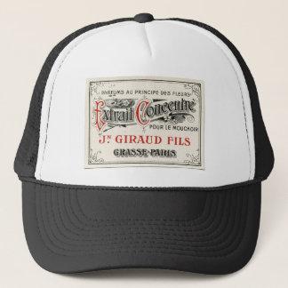 Vintage Paris Perfume Label Trucker Hat