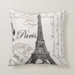 "Vintage Paris...pillow Throw Pillow<br><div class=""desc"">Vintage Paris... pillow</div>"