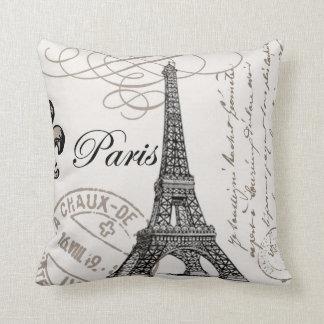 Vintage Paris...pillow Throw Pillow