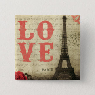 Vintage Paris Pinback Button