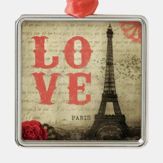 Vintage Paris | Pink Metal Ornament