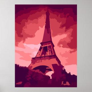 Vintage Paris Pink Poster