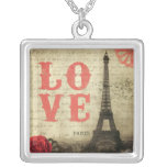 Vintage Paris | Pink Silver Plated Necklace