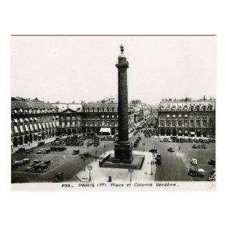 Vintage Paris, Place Vendome Postcard