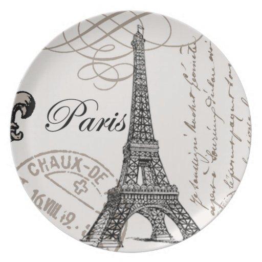 Vintage paris plate zazzle Paris building supply paris tn