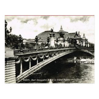 Vintage París, Pont Alejandro III, Palais magnífic Tarjetas Postales