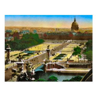 Vintage Paris, Pont Alexandre III, Les Invalides Postcard