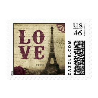 Vintage Paris Stamp