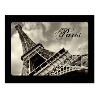 Vintage París - postal de la torre Eiffel