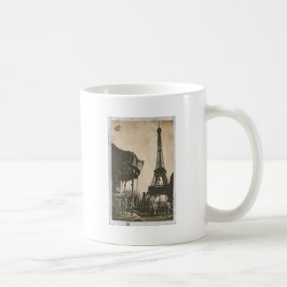 Vintage Paris Postcard, Eiffel Tower Coffee Mug
