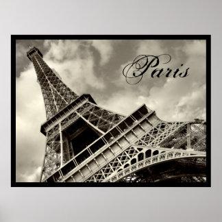 Vintage París - poster de la torre Eiffel