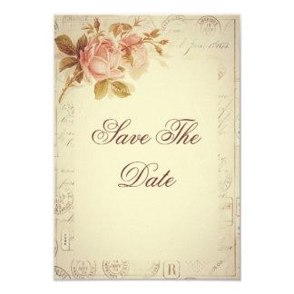 Vintage Paris Postmarks Chic Roses 18th Card