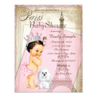 Paris baby shower invitations announcements zazzle vintage paris princess baby shower filmwisefo