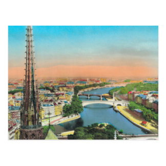 Vintage París, río el Sena Postal