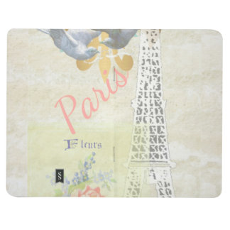 Vintage Paris Romantic Art Collage Journal