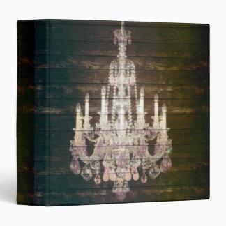 vintage paris rustic barn wood purple chandelier binder