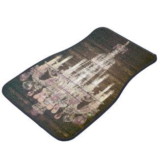 vintage paris rustic barn wood purple chandelier car floor mat