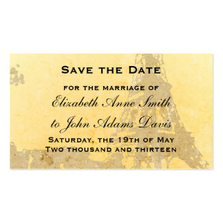 Vintage Paris Save the Date Card Business Card Template