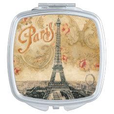 Vintage Paris Scenery Compact Mirror at Zazzle