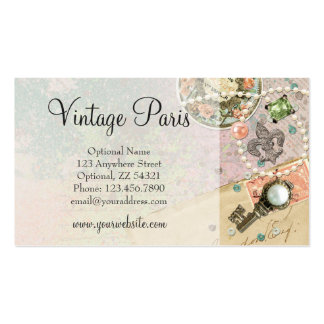 Vintage Paris Shabby Chic Crafting & Jewelry Business Card