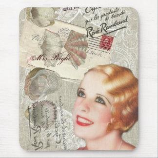 vintage paris shabby chic retro bridal shower mouse pad