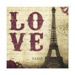 Vintage Paris Stretched Canvas Prints
