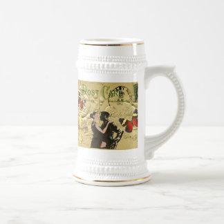 Vintage Paris Tango post card Beer Stein