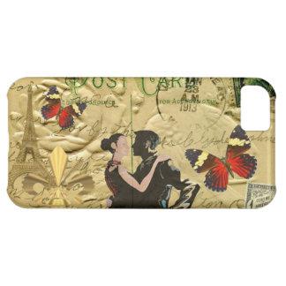 Vintage Paris Tango post card Cover For iPhone 5C