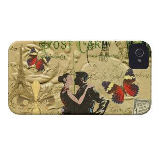 Vintage Paris Tango post card iPhone 4 Case