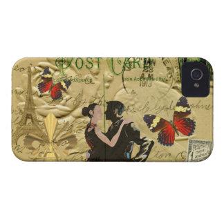 Vintage Paris Tango post card iPhone 4 Cover